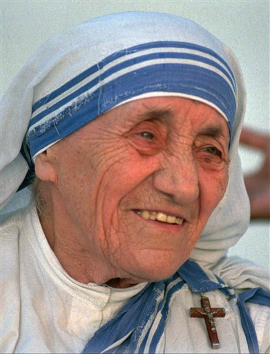Mother Teresa- a 1996 file photo