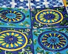 Magic of blues Jaipur tiles are handmade, easy to handle, and don't develop cracks. Photos by the author