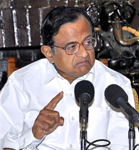 Union Home Minister P Chidambaram addresses a news conference after a review meeting in Ranchi on Thursday. PTI