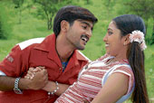 Ramu and Raveena in 'Mad Love'.