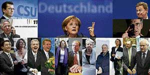 A combination of photos shows the proposed new German coalition government which comes from the three parties in the incoming centre-right government — Angela Merkel's Christian Democratic Union, the Bavarian Christian Social Union and the FDP. REUTERS