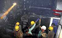 Fire fighters in action in City. File photo