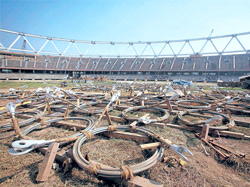 The reconstruction process at the Jawaharlal Nehru stadium is set to face further delays. AFP