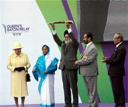 Countdown to CWG begins: Patil receives Baton from Queen