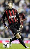 Back in Red and Black dress- David Beckham to play for AC Milan