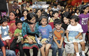 Children at the launch. Dh photo by Janardhan B K
