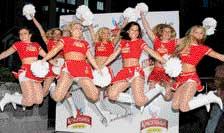 Skimpy skirts that regular cheergirls wear at cricket matches