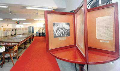 Some of the exhibits on display at the centenary celebrations of the Tamil Nadu Archives in Chennai.