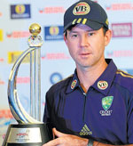 Ponting with the trophy
