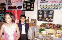 Students explaining the significance of Thanksgiving Festival of England at an exhibition organised as part of Children's Day at Mount Carmel School in Mangalore on Saturday. DH Photo