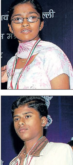 Young Achievers: Shruthi S (top) and A M Anand (above).