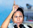Railway Minister Mamata Banerjee addresses the  public in Hooghly, West Bengal on Sunday. PTI
