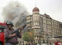 Terrorists attack Taj Hotel in Mumbai on November 26, 2008