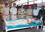 A blood donation camp by police being held at Balehonnur on Friday to commemorate deceased ANF cop Guruprasad.