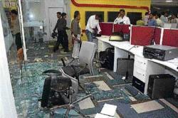 Sena men vandalise IBN office