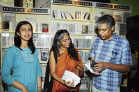 Anjum Hasan, Kirtana Kumar and Prakash Belawadi at the event.