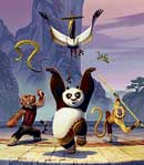 laugh riot A scene from Kung Fu Panda.