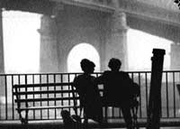 striking intimacy The famous scene from Woody Allen's 'Manhattan'.