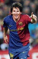 Lionel Messi has been rewarded for some excellent displays for Barcelona in European competitions. AP