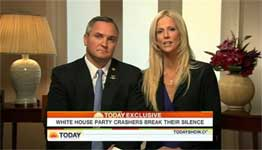 In this image made from video provided Tuesday, Dec. 1, 2009 by NBC Universal, Tareq and Michaele Salahi are interviewed on the