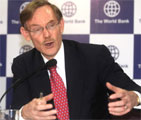 World Bank President Robert B Zoellick addresses a press conference in New Delhi on Friday. AFP