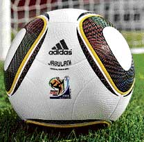 A handout image from Adidas of the official match ball called Jabulani. AFP