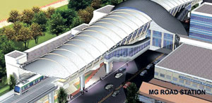 Artist's impression of the MGRoad Metro station