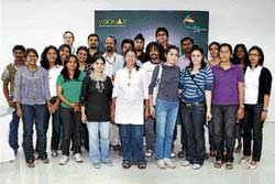 Students pose for camera at BIAL. DH photo