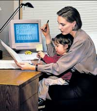 Mothers are hired on part-time basis rather than 24x7.