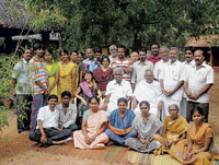 PEACE MISSION Faculty and support staff at the Gandhian Institute for Non-violence and Peace in Madurai