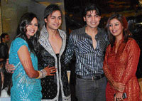 rocking couples Shaleen and Daljeet with Gurmeet and Debina.