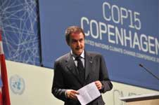 Spain's Prime Minister Jose Luis Zapatero at the the COP15 UN Climate Change Conference. AFP