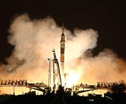 Soyuz spacecraft blasts off
