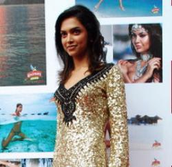 Deepika Padukone unveils Kingfisher's 2010 calendar