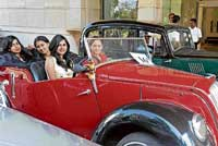 Beauties on the road: Girls participating in a Vintage and Classical Car and Bike Parade 'for a cleaner and greener Bangalore' organised by The Karnataka Vintage and Classic Car Club and Transport Department in Bangalore on Sunday. DH photo