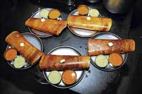 Masala dosas are a hot favourite.