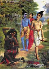 Surpanakha in a Ravi Varma painting