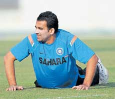 KEY MAN: Indian pacers, including Zaheer Khan, have to pull up their socks to beat Bangladesh on Thursday. AFP