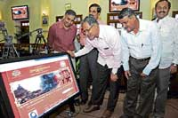 Law and Parliamentary Affairs Minister S Suresh Kumar launching the website on Krishnadevaraya on the occasion of the emperor's 500th year of coronation in Bangalore on Thursday. DH Photo