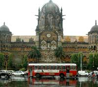 standing tall CST station at Mumbai.