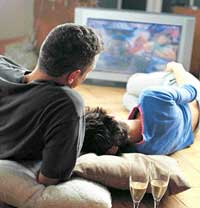 killer machine: Scientists found that each hour a day spent in front of the television increased the risk of death from all causes by 11 per cent. Getty images