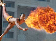Breathing fire: Is aggression today's nationalism? DH Photo