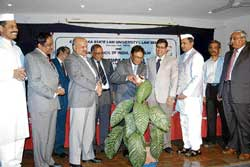 Bar Council of India President Suraj Narain Prasad Sinha inaugurating the national conference on legal education, jointly organised by Karnataka State Law University and the Bar Council of India in Hubli on Tuesday. DH Photo
