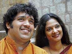 Talented duo: Arun and M D Pallavi.