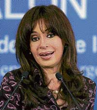 Pig meat is better than Viagra, says Cristina Fernandez. AP