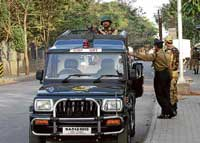 CISF personnel manning the area. DH PHOTO