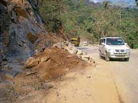The NH 48 stretch on Shiradi Ghat is almost blocked due to landslide.  DH photo