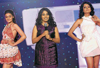 confident Priyanka Grover (centre)with models