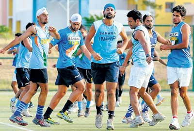 Glory seekers: Indian hockey team has an arduous task of making its mark against the best in the world during the fortnight-long World Cup, beginning in New Delhi from Sunday. File photo