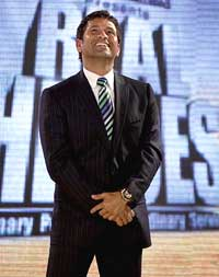 Sachin Tentulkar during Reliance Industries Limited's Real Heroes felicitation ceremony in Mumbai on Wednesday night. PTI